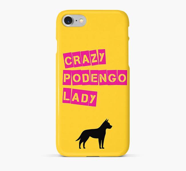 Phone Case 'Crazy Podengo Lady