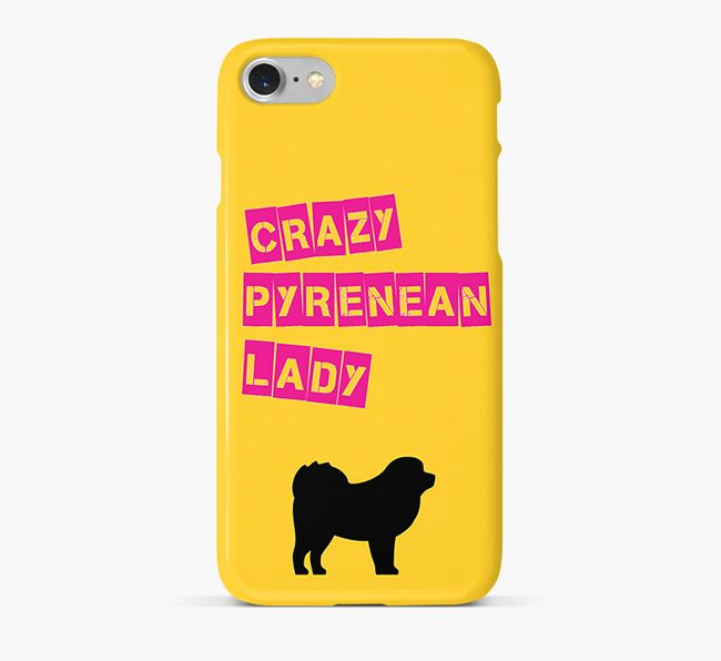 Phone Case 'Crazy Pyrenean Mastiff Lady