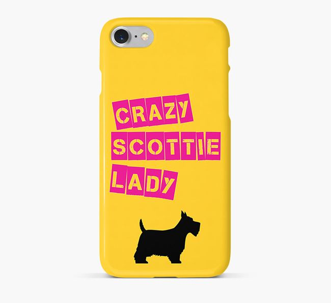 Phone Case 'Crazy Scottish Terrier Lady