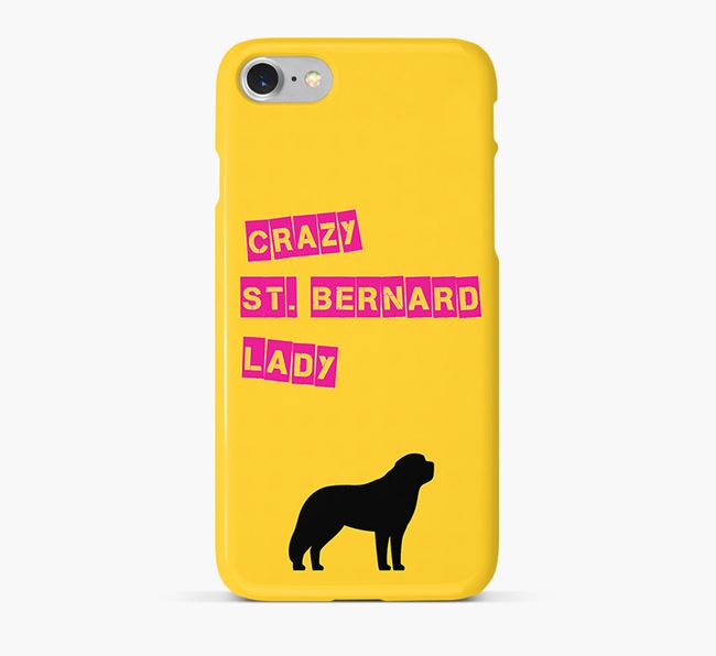 Phone Case 'Crazy St. Bernard Lady