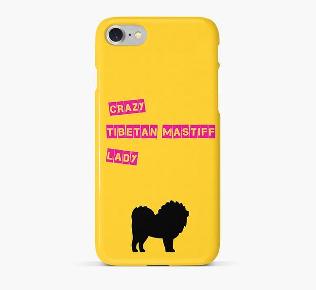 Phone Case 'Crazy Tibetan Mastiff Lady