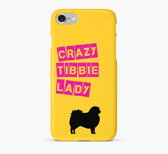 Phone Case 'Crazy Tibetan Spaniel Lady
