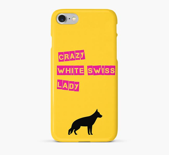 Phone Case 'Crazy White Swiss Lady