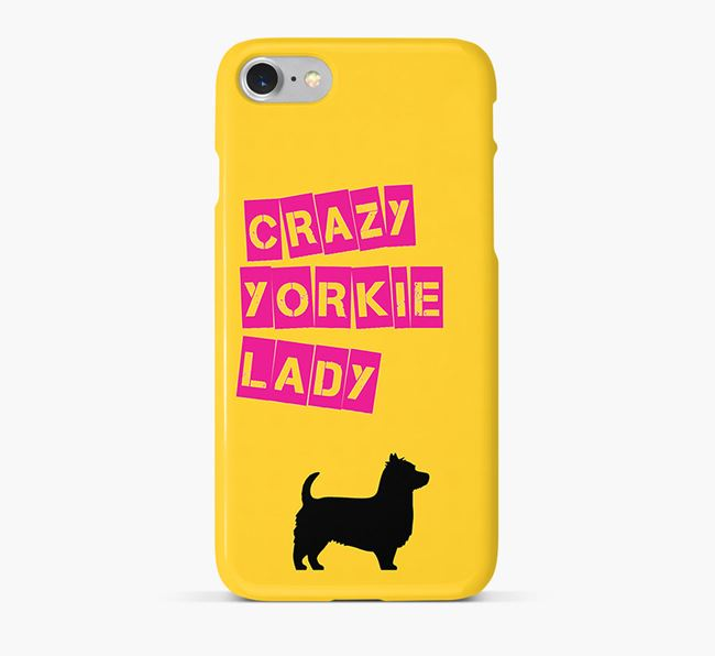 Phone Case 'Crazy Yorkshire Terrier Lady