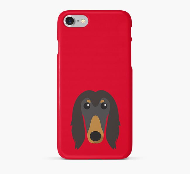 Phone Case with Afghan Hound Icon