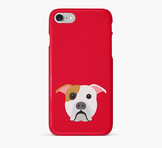Phone Case with American Bulldog Icon