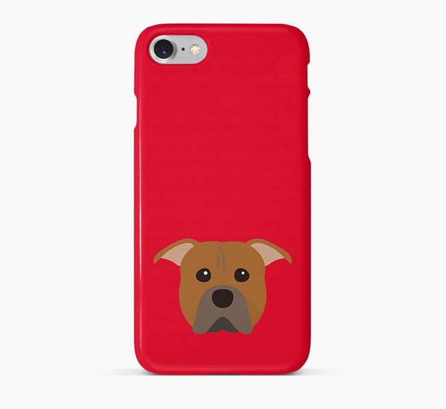 Phone Case with Pit Bull Terrier Icon