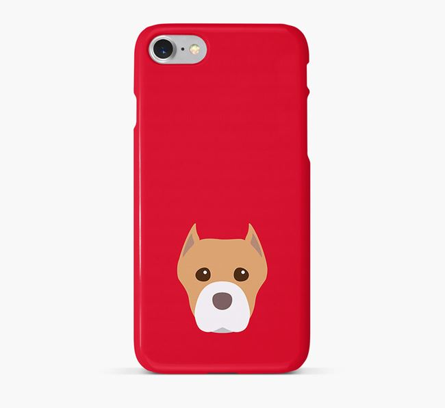 Phone Case with American Staffordshire Terrier Icon