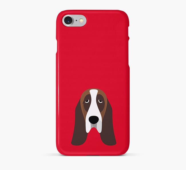 Phone Case with Basset Hound Icon