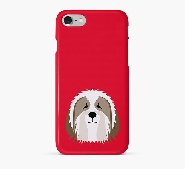 Phone Case with Bearded Collie Icon