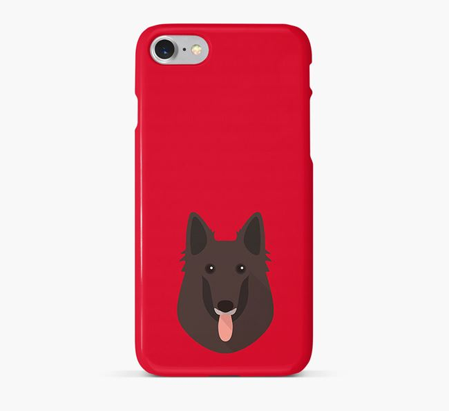 Phone Case with Belgian Shepherd Icon
