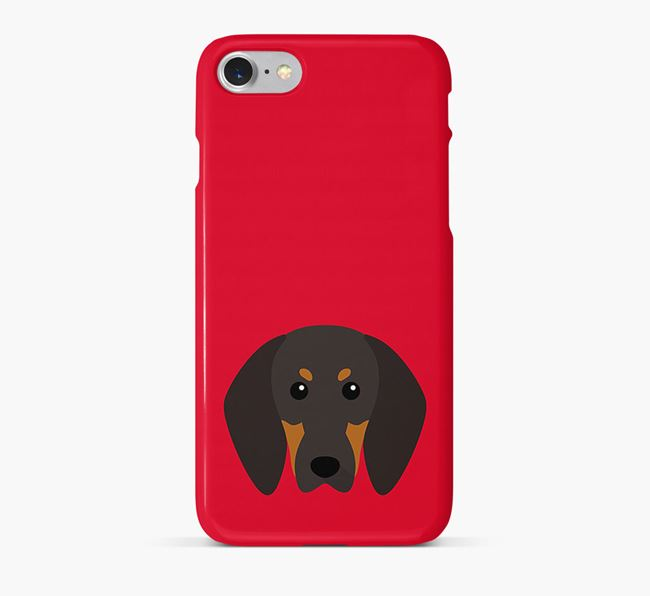 Phone Case with Coonhound Icon