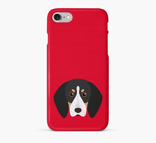 Phone Case with Bluetick Coonhound Icon