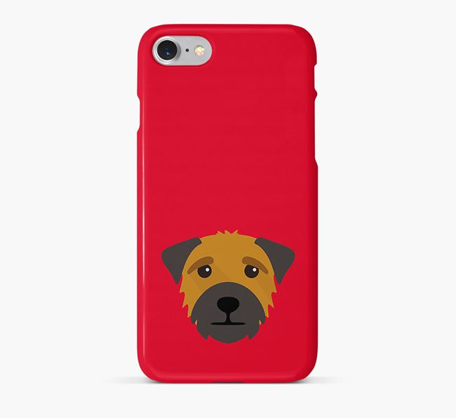 Phone Case with Border Terrier Icon