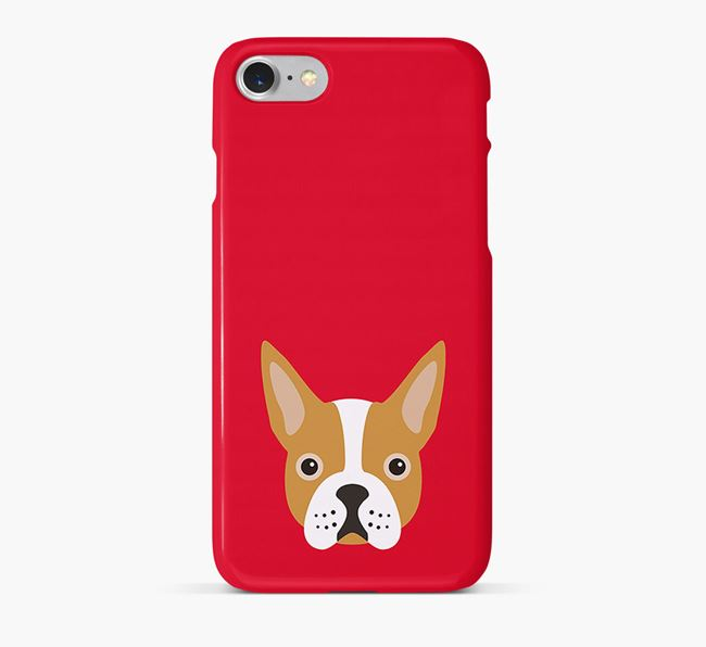 Phone Case with Boston Terrier Icon