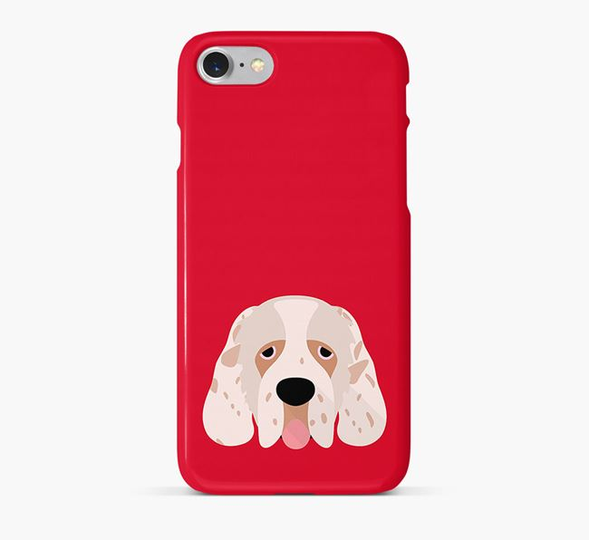 Phone Case with Clumber Spaniel Icon