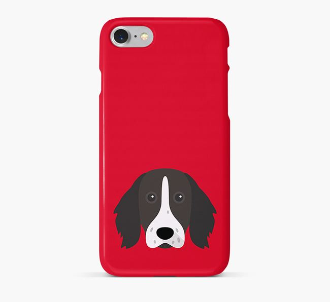 Phone Case with Longhaired Pointer Icon