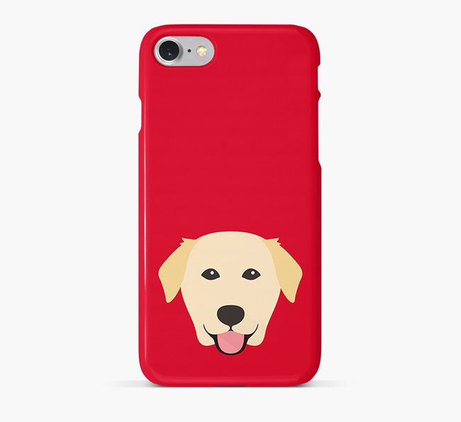 Phone Case with Golden Lab Icon