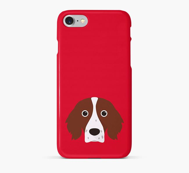 Phone Case with Red & White Setter Icon