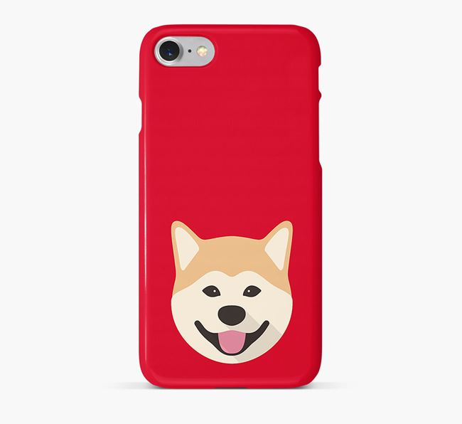 Phone Case with Akita Inu Icon