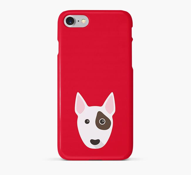 Phone Case with Miniature Bull Terrier Icon