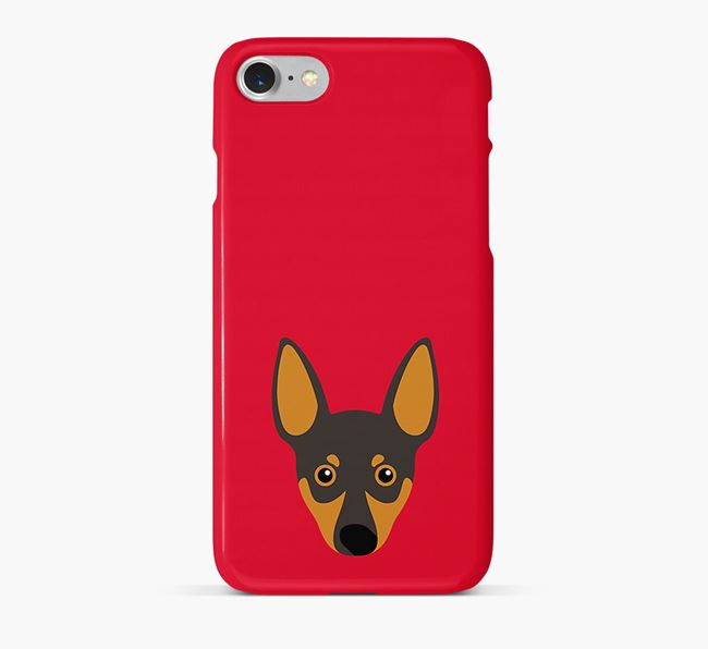 Phone Case with Miniature Pinscher Icon