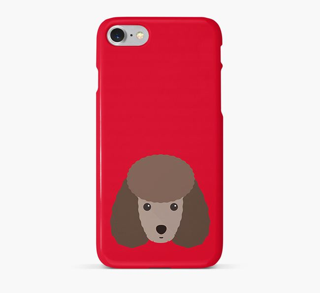 Phone Case with Miniature Poodle Icon