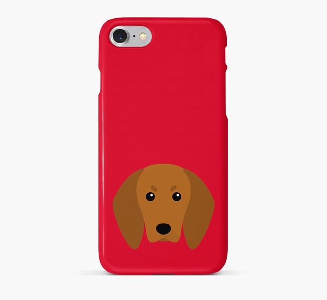 Phone Case with Redbone Coonhound Icon