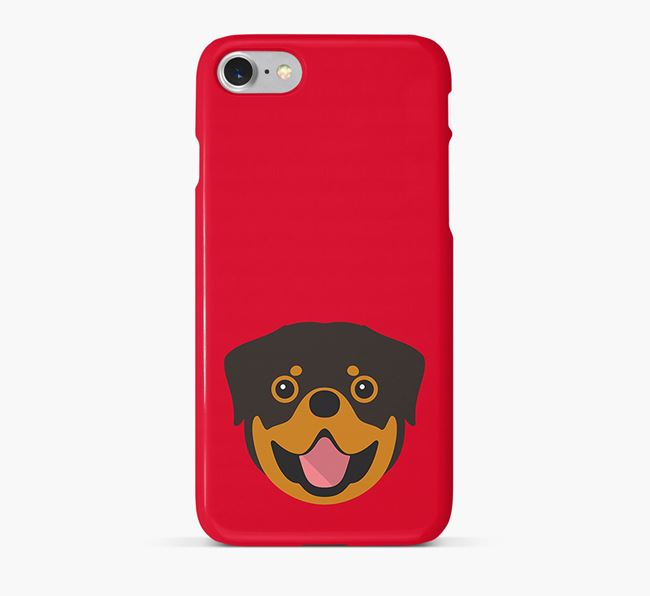 Phone Case with Rottweiler Icon