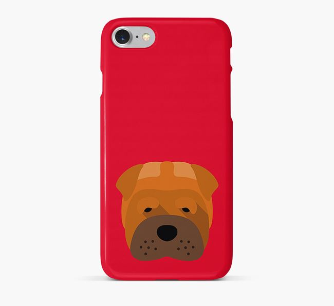Phone Case with Shar Pei Icon