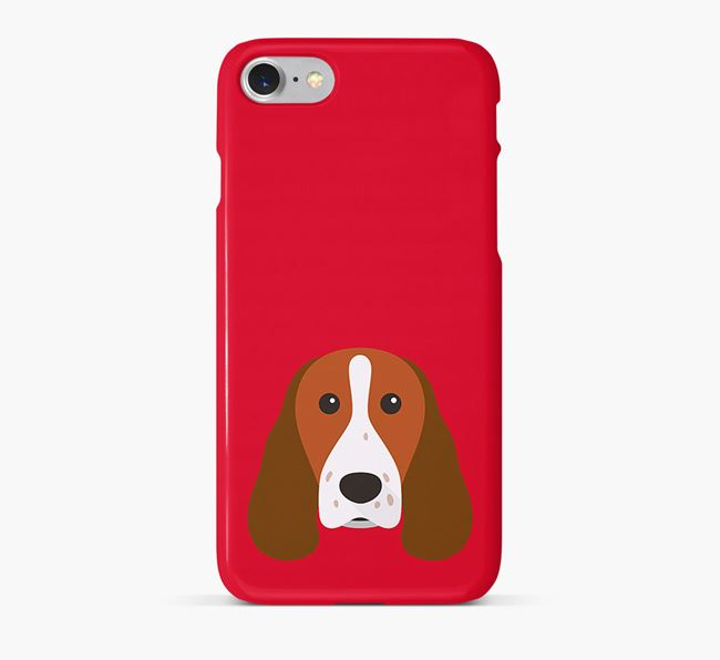 Phone Case with Welsh Springer Icon