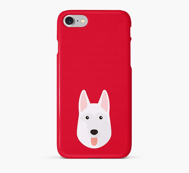 Phone Case with White Swiss Icon