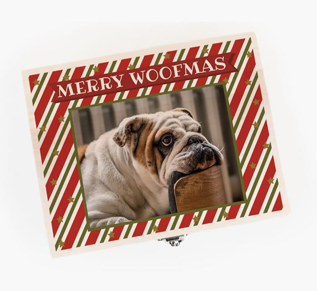 'Photo Upload' - Personalised English Bulldog Christmas Eve Box