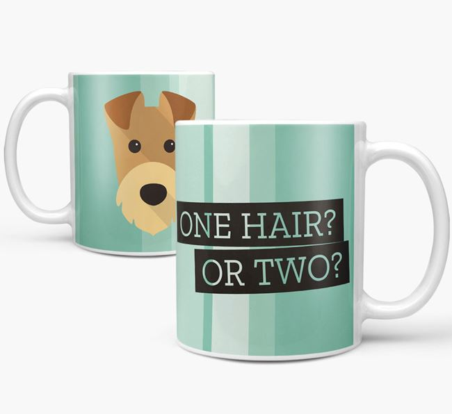 Airedale Terrier 'One Hair? Or Two?' Mug