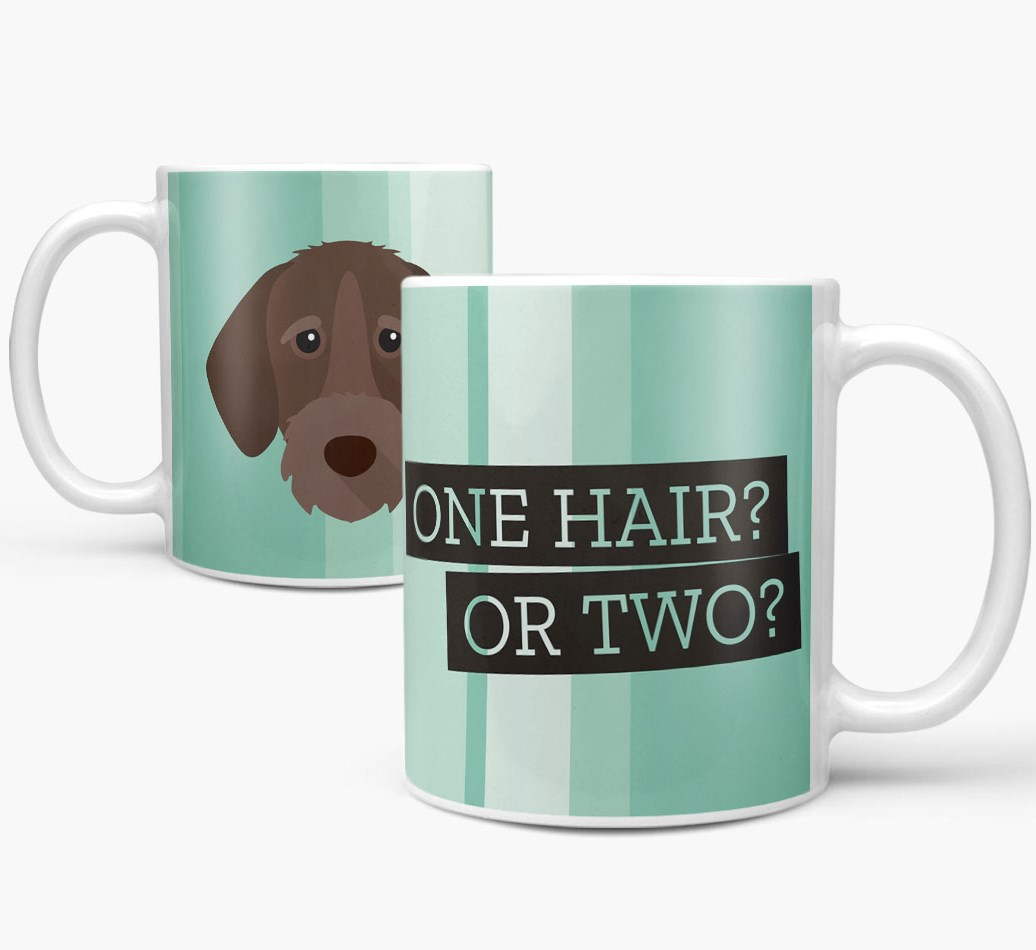 German Wirehaired Pointer Mug both views