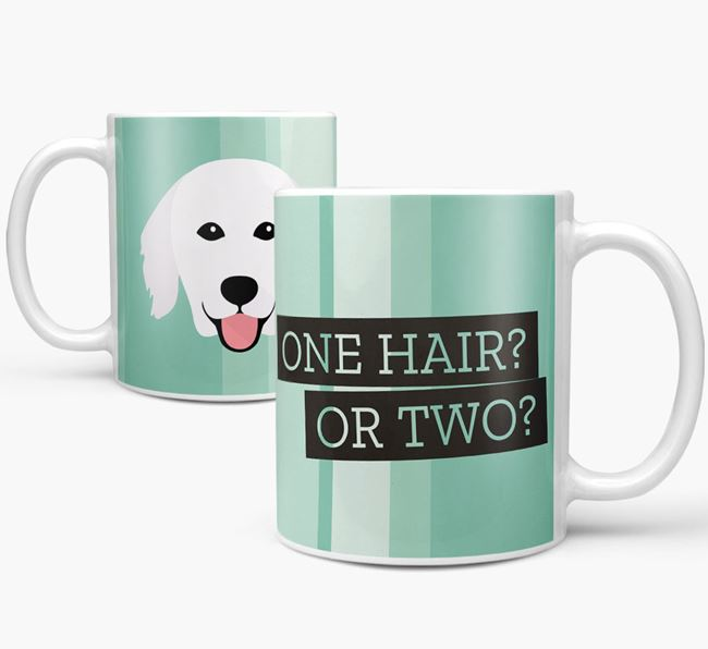 Hungarian Kuvasz 'One Hair? Or Two?' Mug