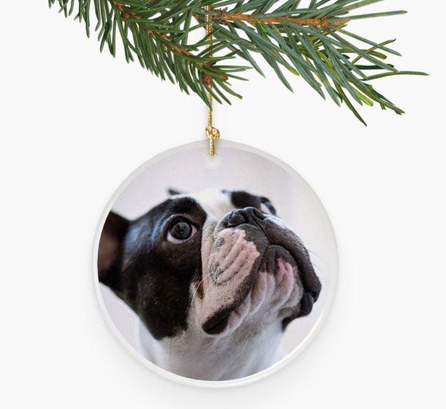Photo Upload - Personalised French Bulldog Bauble