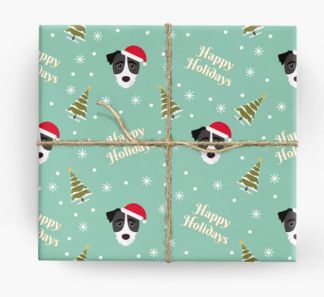 'Happy Holidays' - Personalized Jack-A-Poo Wrapping Paper
