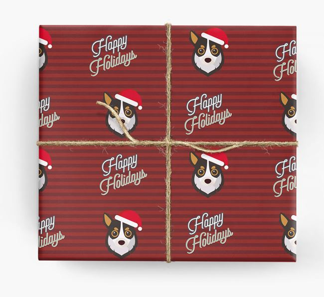 'Happy Holidays' - Personalised Chihuahua Wrapping Paper