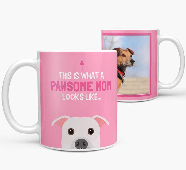 'Pawsome Mom' - Personalized American Bulldog Mug