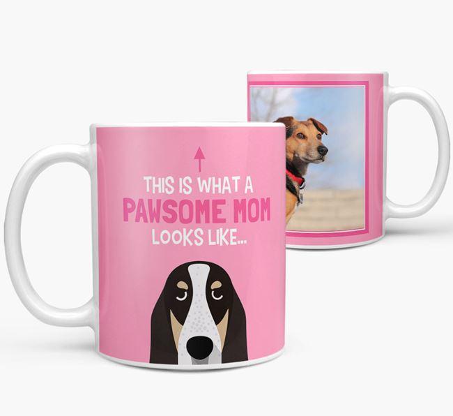 'Pawsome Mom' - Personalized Basset Bleu De Gascogne Mug