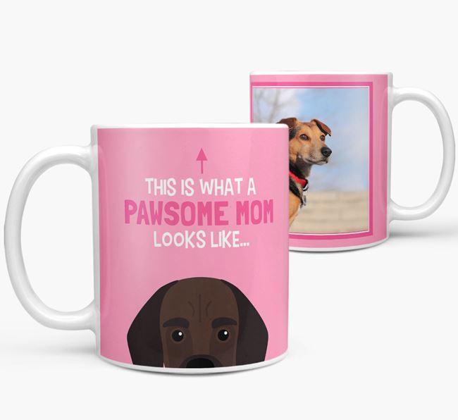 'Pawsome Mom' - Personalized Bassugg Mug