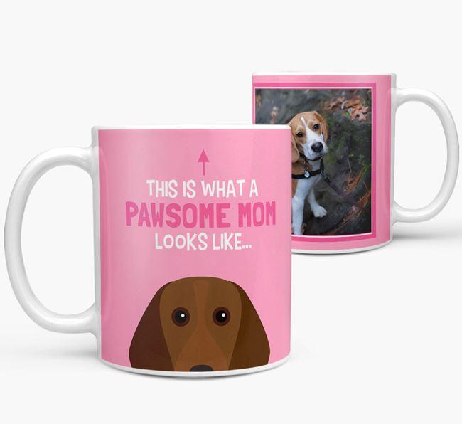'Pawsome Mom' - Personalized Beagle Mug