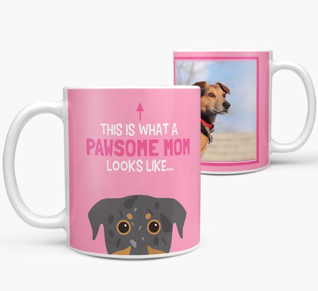 'Pawsome Mom' - Personalized Beauceron Mug