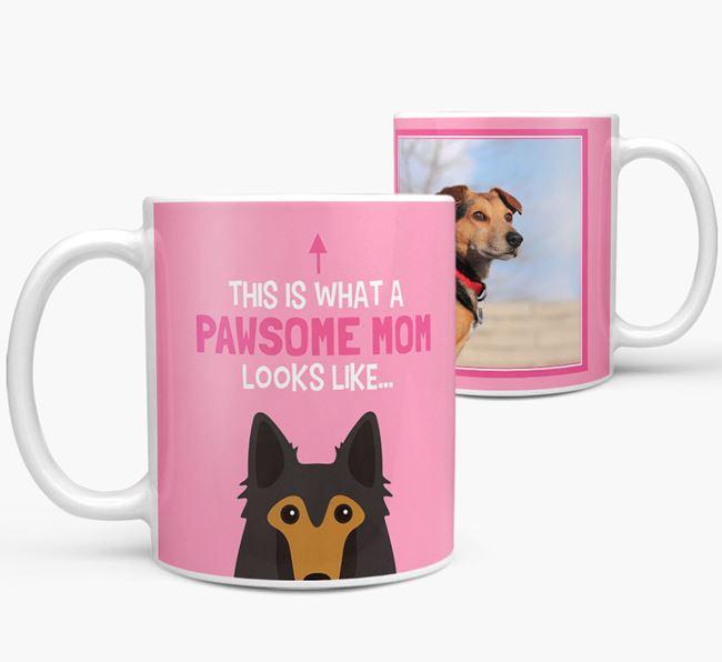 'Pawsome Mom' - Personalized Belgian Shepherd Mug