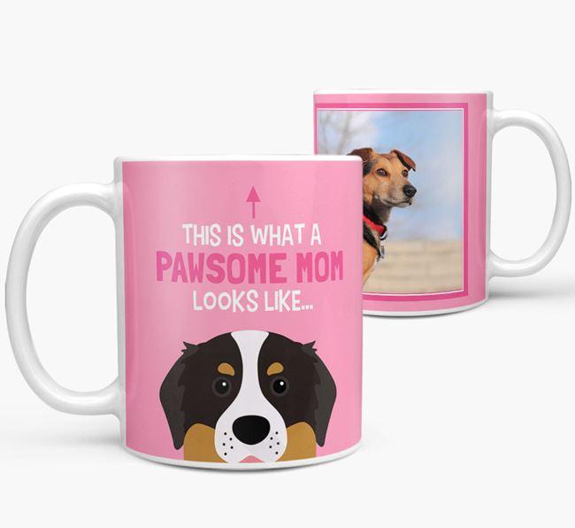 'Pawsome Mom' - Personalized Bernese Mountain Dog Mug