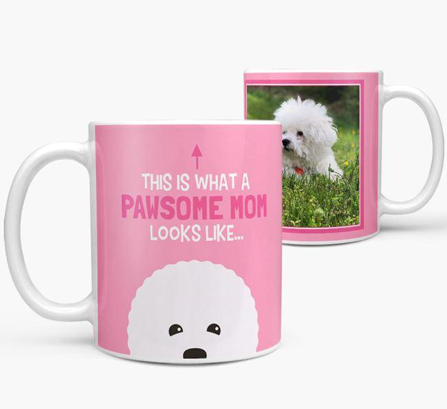 'Pawsome Mom' - Personalized Bichon Frise Mug