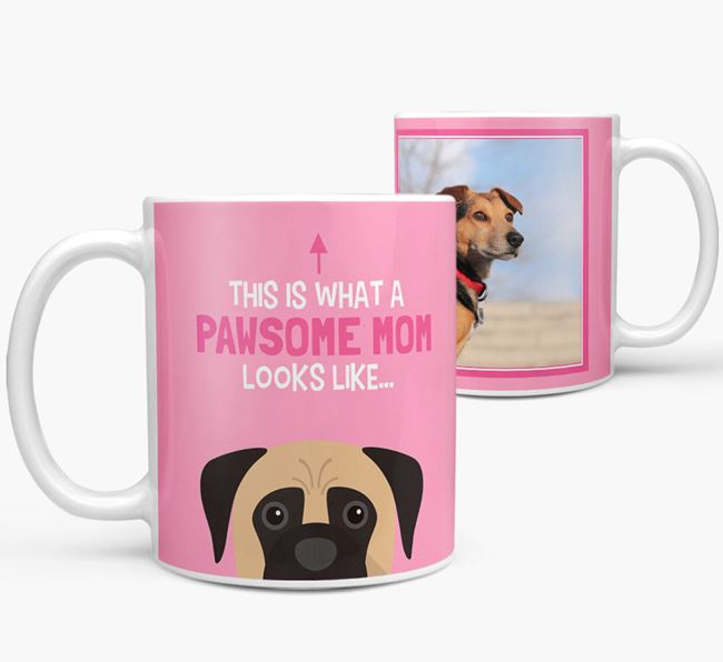 'Pawsome Mom' - Personalized Boerboel Mug