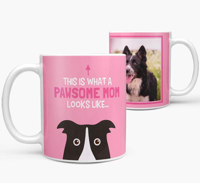 'Pawsome Mom' - Personalized Dog Mug