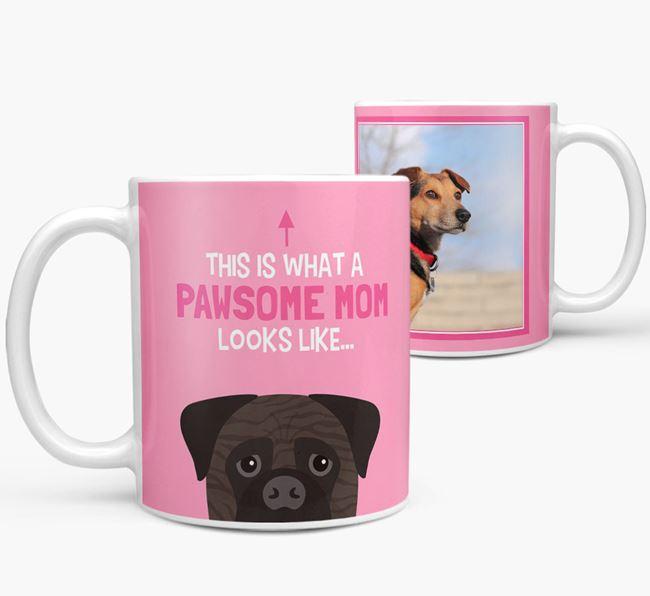 'Pawsome Mom' - Personalized Bullmastiff Mug